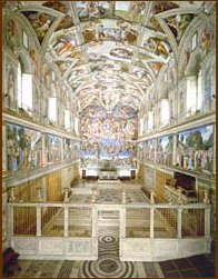 Pictures in sistine chapel